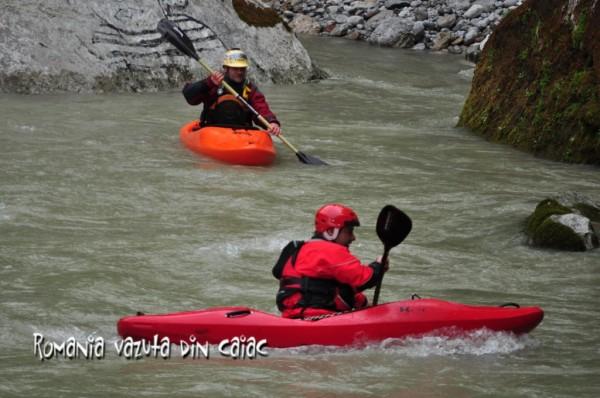 Pe Saalach, curs caiac white water