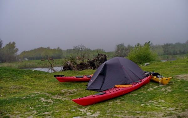 Caiac de tura in Delta Dunarii