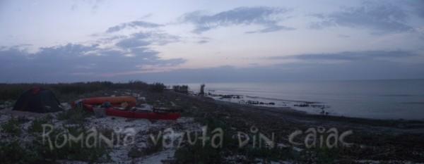 In caiac din Delta Dunarii la marea Neagra