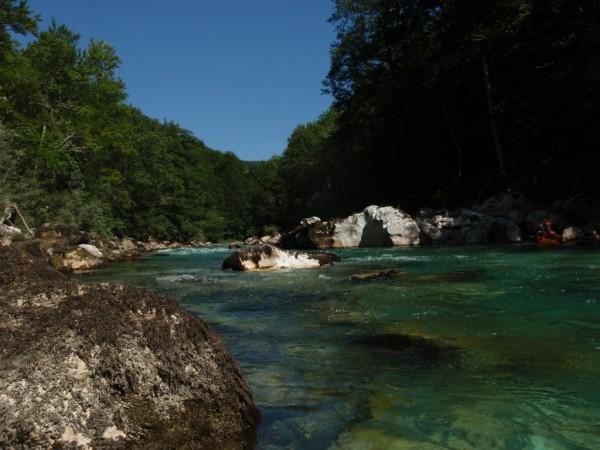 Caiac pe raul Tara, Muntenegru