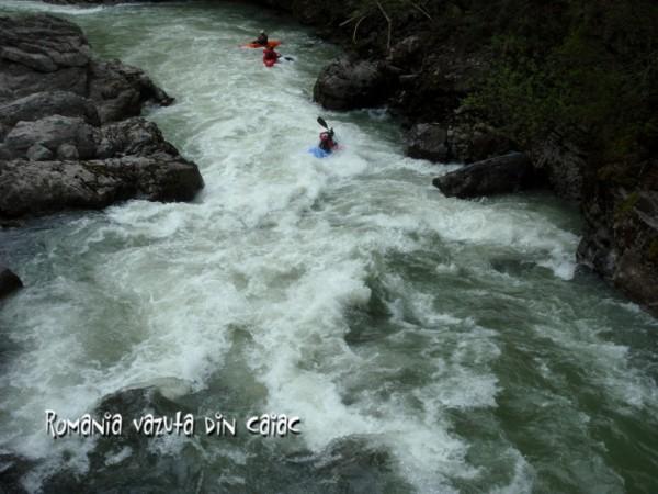 In canionul raului Lammer -coborare cu caiacele white water